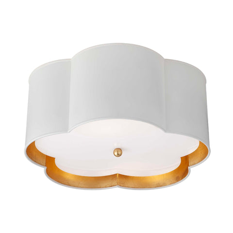 Bryce Medium Flush Mount in White
