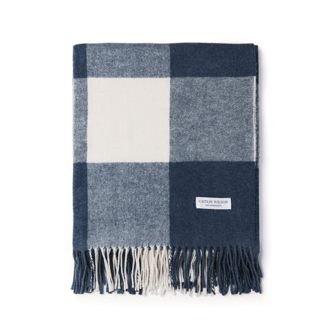 Grande Check Throw in Navy
