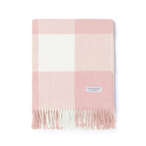 Grande Check Throw in Blush