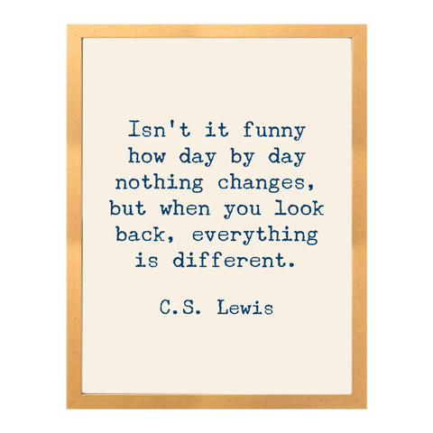 C.S. Lewis Gold Framed Quote