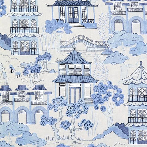 Canton Toile Fabric Swatch