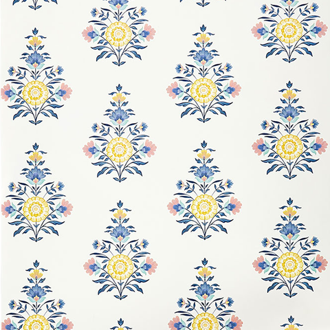 Celeste Block Print Wallpaper Swatch