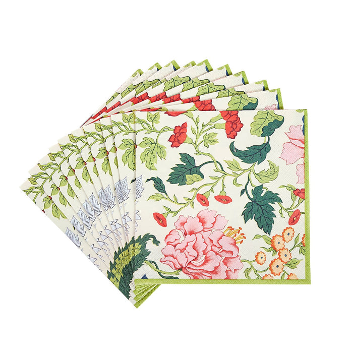 Chinese Floral Paper Cocktail Napkins