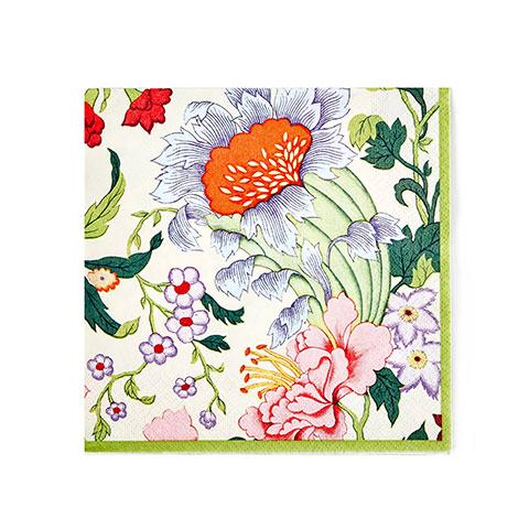 Chinese Floral Paper Luncheon Napkins