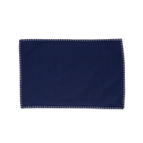 Whip Stitched Navy Placemats