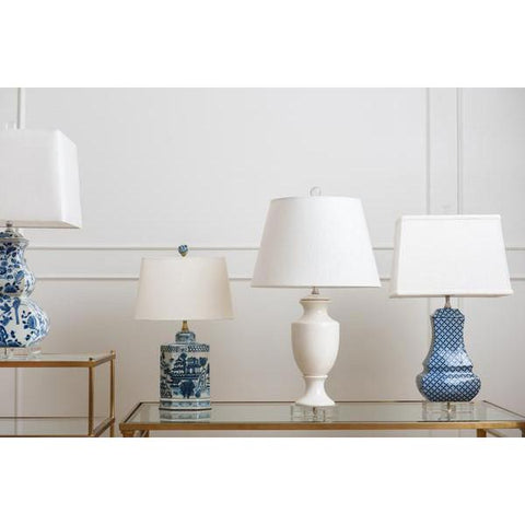 Empire Lamp in White