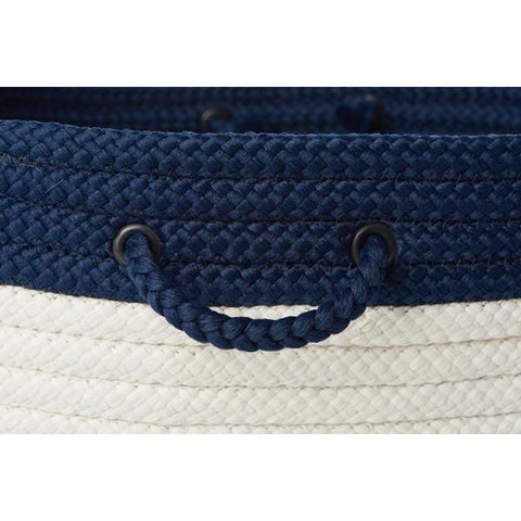 Navy & White Braided Basket