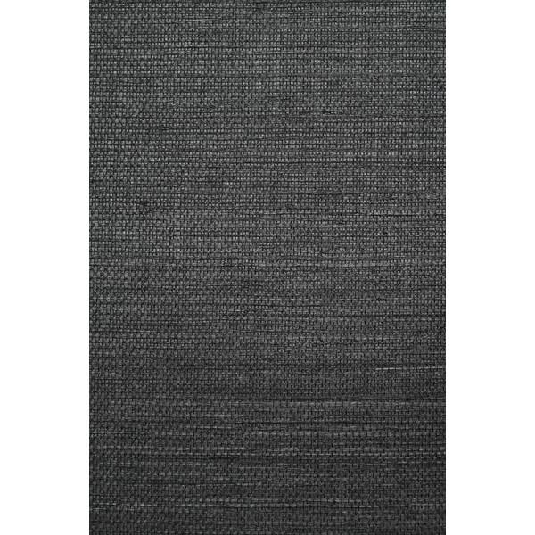 Grasscloth Wallpaper in Noir