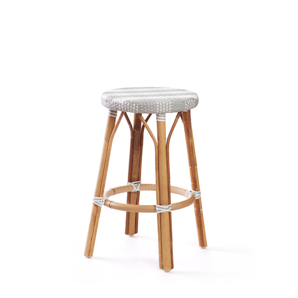 Backless Counter Stool In Grey Caitlin Wilson