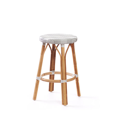 Backless Counter Stool In Grey