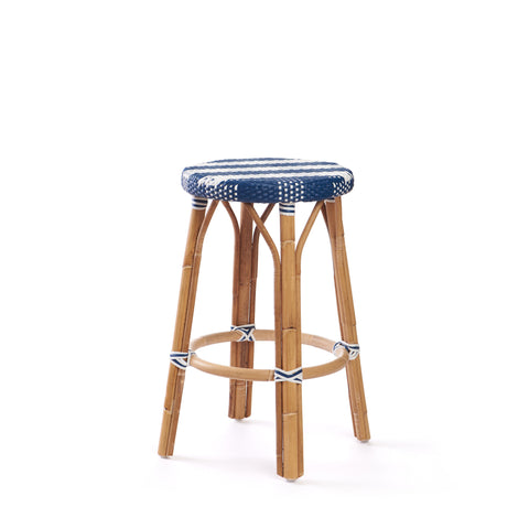 Backless Counter Stool In Navy