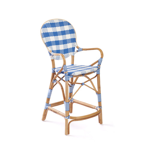 Madeleine Counter Stool in French Blue