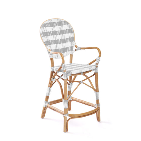 Madeleine Counter Stool in Grey