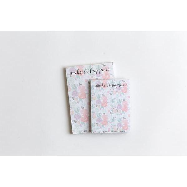 make it happen - blooms large notepad