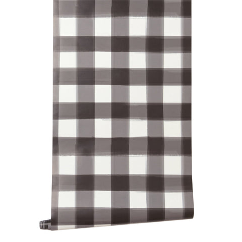 Burnside Buffalo Check in Black Wallpaper