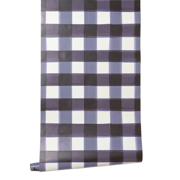 burnside buffalo check in navy wallpaper