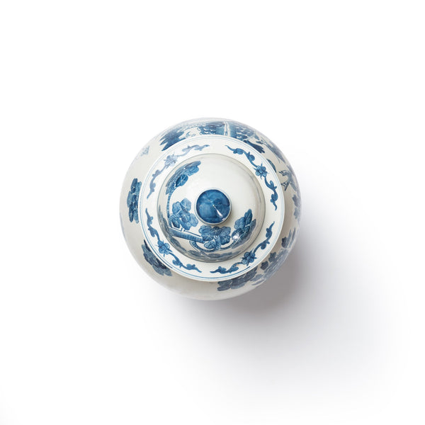 blue and white grande ginger jar