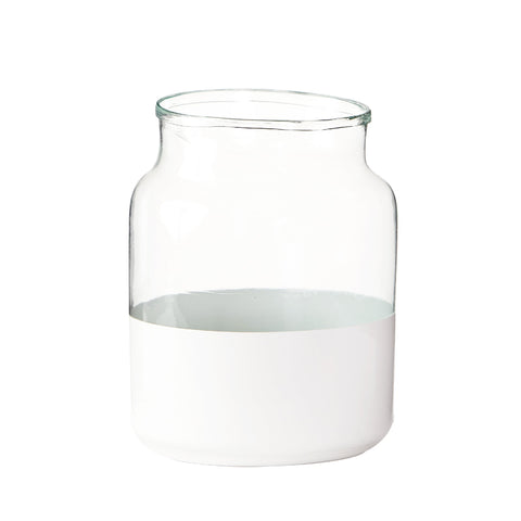Medium White Colorblock Vase