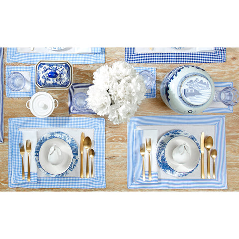 French Blue Stripe Napkins