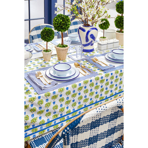 French Blue Gingham Napkins