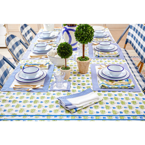 French Blue Stripe Cocktail Napkins