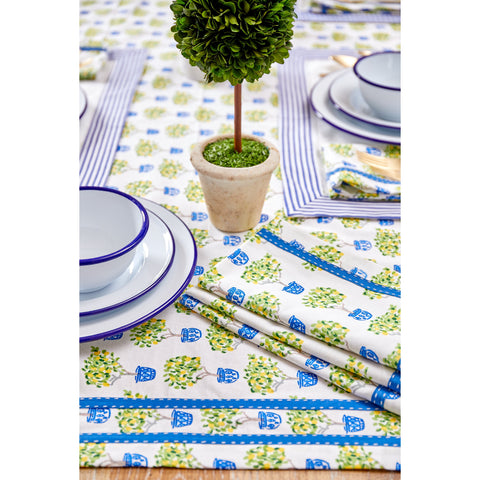 Royal Blue Stripe Cocktail Napkins