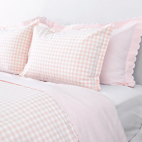 Blush Gingham Duvet Cover