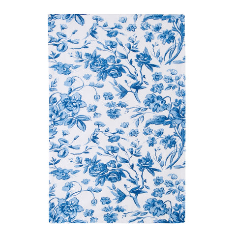 Decorative Blue Floral Tea-Towel