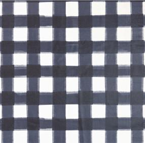 COATED CANVAS - Navy Burnside Buffalo Check