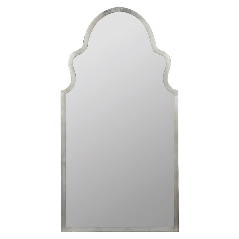 Curved Silver Mirror