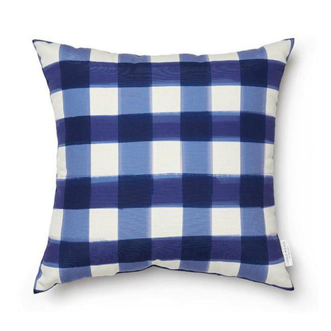 Deep Sea Buffalo Check Pillow INDOOR/OUTDOOR