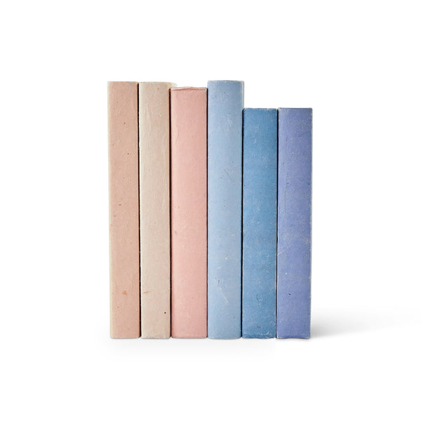 Peach Blush Parchment Decorative Books