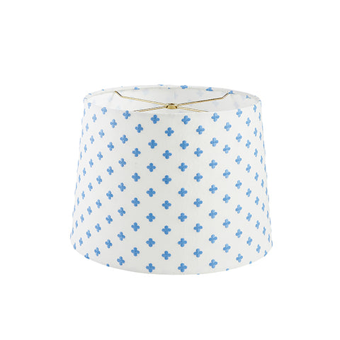 Embroidered Clover Lampshade in Blue