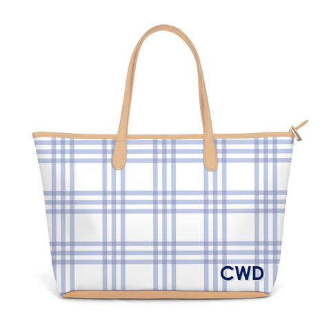 CAIT KIDS: St. Anne Diaper Bag in Eventide Grande Plaid