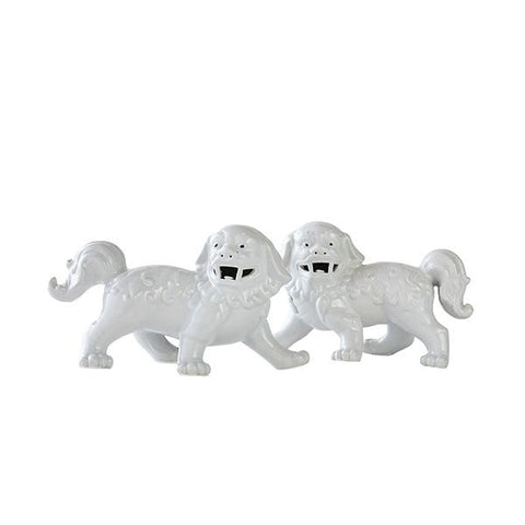Foo Dogs in White
