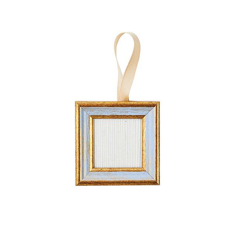 Blue & Gold Frame Ornament
