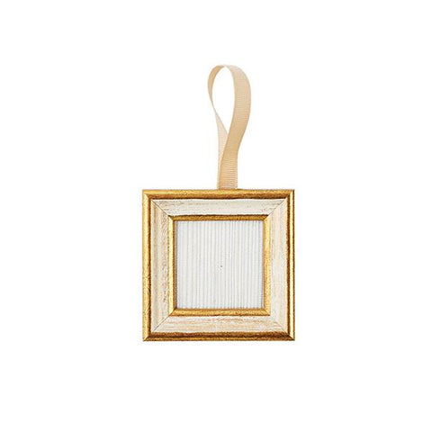 White & Gold Frame Ornament