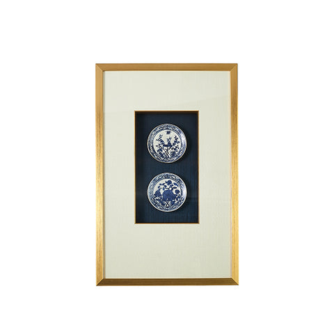 New! Framed Porcelain Plates