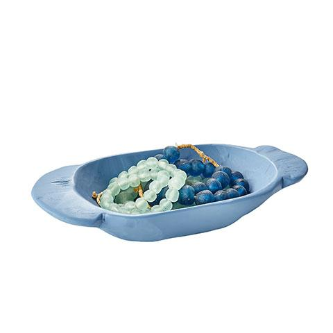 French Blue Painted Bowl