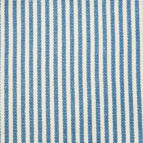 French Blue Pinstripe Fabric Swatch