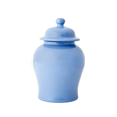 French Blue Temple Jar