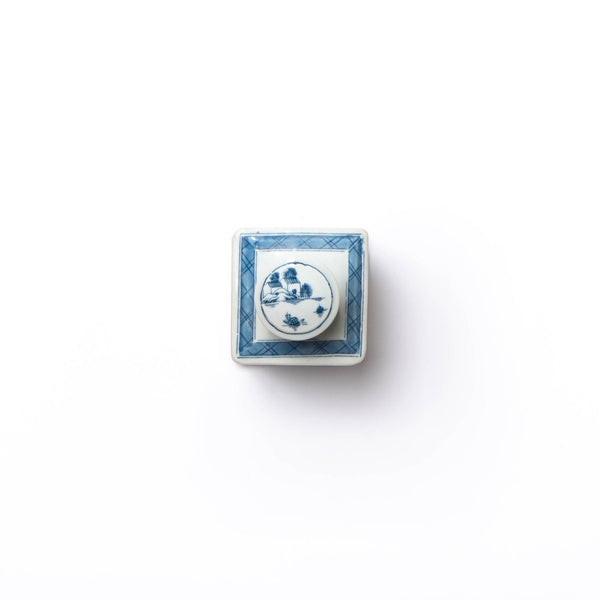 square porcelain tea canister