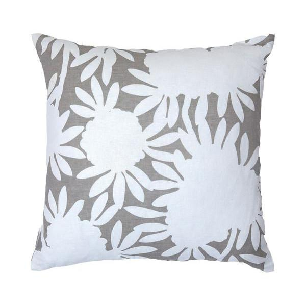 grey silhouette pillow
