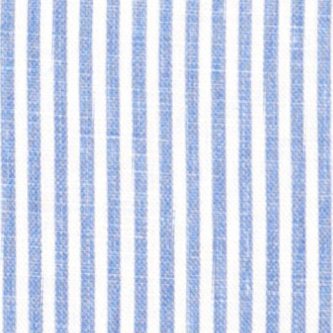 French Blue Stripe Fabric Swatch