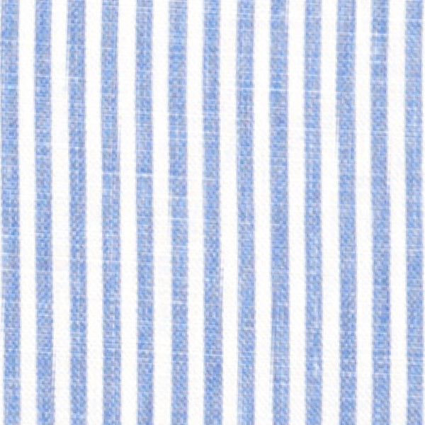 French Blue Stripe Fabric Caitlin Wilson