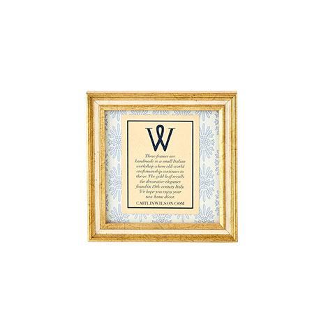 Gold & Cream Square Frame
