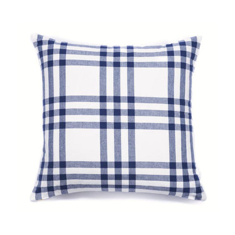 Grande Plaid Pillow in Navy