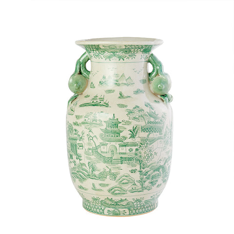 Porcelain Garden Vase in Green