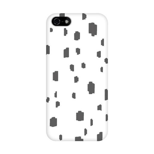 grey spotted phone cover