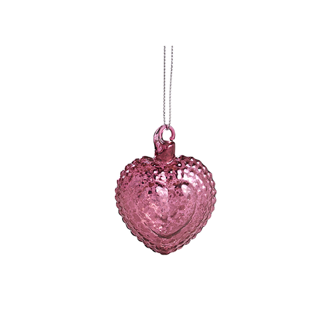 Heart Ornament in Mulberry